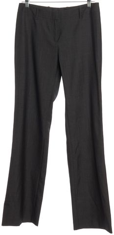 BOSS HUGO BOSS Dark Gray Wool Dress Pants