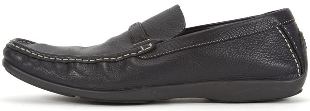 BOSS HUGO BOSS Men's Black Pebbled Leather Loafers