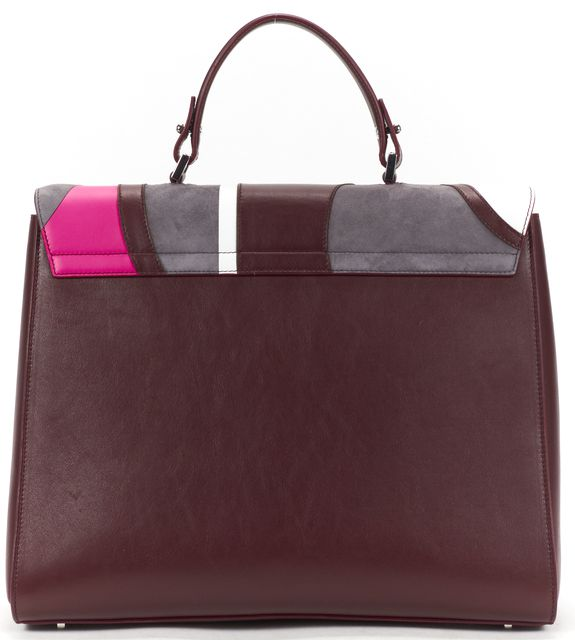 BOSS HUGO BOSS Multicolor Patchwork Leather Bespoke Top Handle Bag
