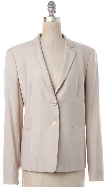 BOSS HUGO BOSS Ivory Wool Two Button Blazer