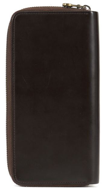 BOSS HUGO BOSS Brown Leather Zip Around Continental Wallet
