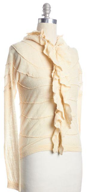 BOSS HUGO BOSS Ivory Wool Knit Cardigan Sweater