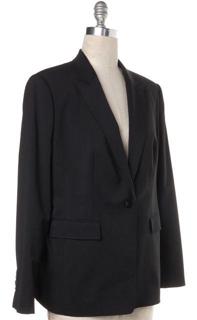 BOSS HUGO BOSS Black Gray Pinstriped Notch Lapel Wool Blazer