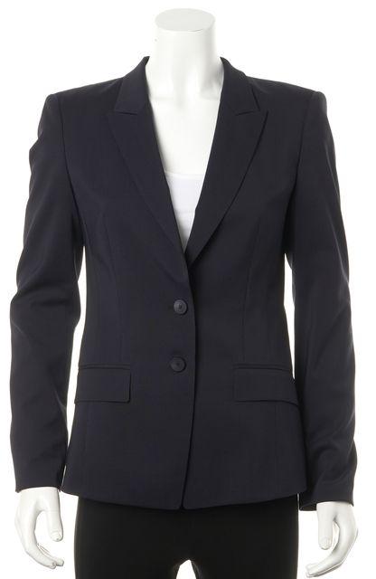 BOSS HUGO BOSS Navy Blue Pinstriped Wool Double Button Blazer