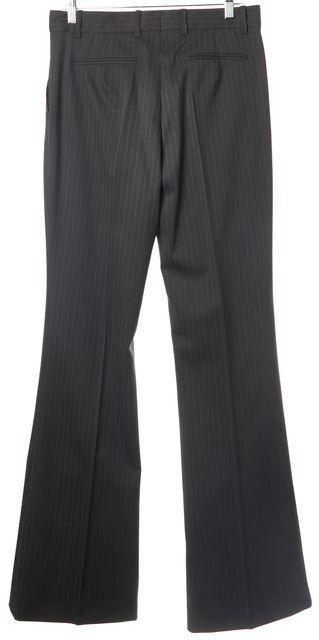 BOSS HUGO BOSS Charcoal Gray Striped Wool Casual Boot Cut Flare Leg Pants