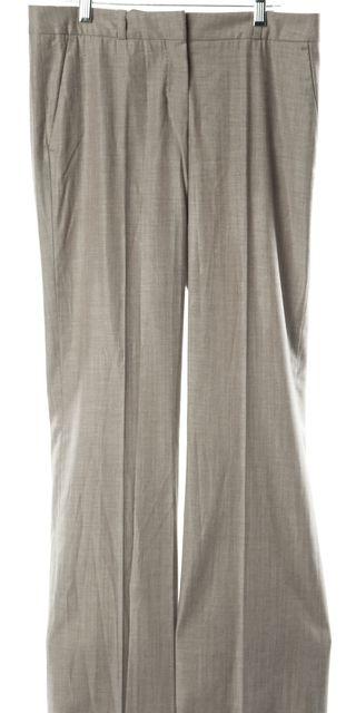 BOSS HUGO BOSS Beige Wool Casual Relaxed Fit Wide Leg Classic Dress Pants