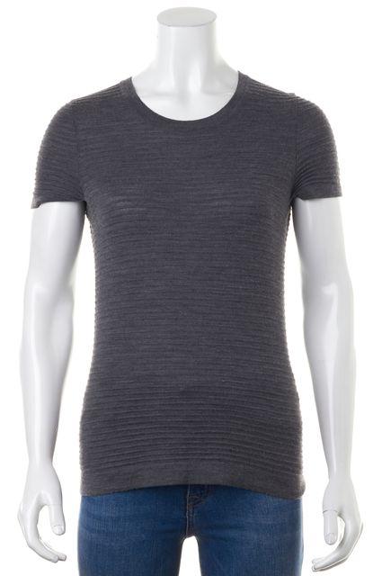 BOSS HUGO BOSS Casual Gray Wool Basic Top