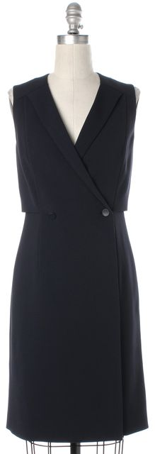 BOSS HUGO BOSS Navy Blue Double Breasted Sheath Dress