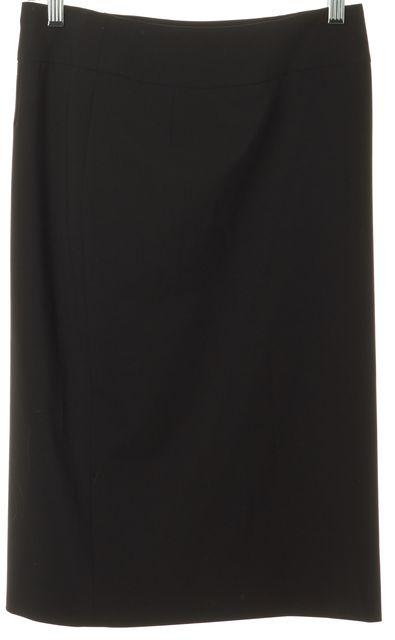 BOSS HUGO BOSS Black Wool Blend Knee-Length Straight Skirt