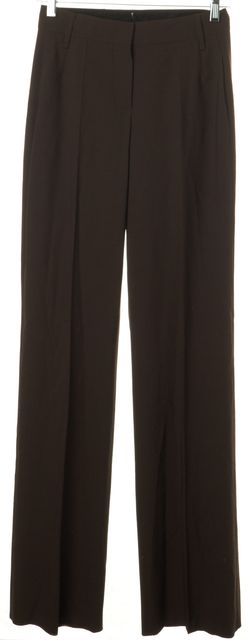 BOSS HUGO BOSS Brown Stretch Cashmere Suiting High Rise Trousers Pants