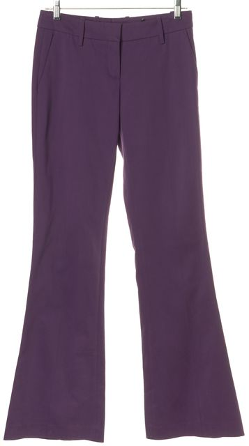 BOSS HUGO BOSS Purple Stretch Cotton Flared Leg Trousers Pants