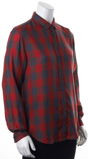 BOSS HUGO BOSS Red Black Plaid Emai Button Down Shirt