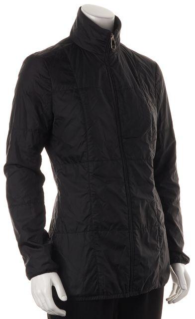 BOSS HUGO BOSS Black Wool High Neck Windbreaker Jacket