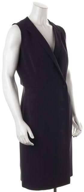 BOSS HUGO BOSS Blue Damarine Double Breasted Sleeveless Wrap Dress