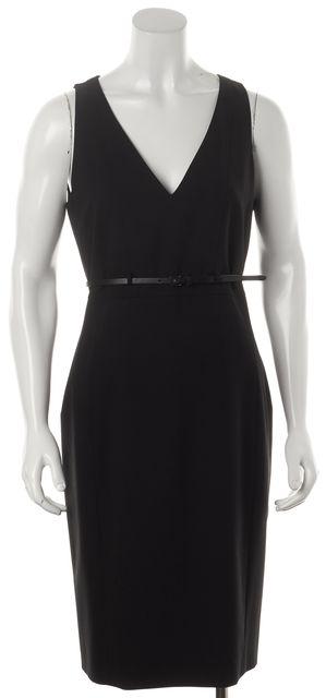 BOSS HUGO BOSS Black Wool Sleeveless Sheath Dress