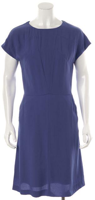 BOSS HUGO BOSS Blue Short Sleeve Blouson Dress
