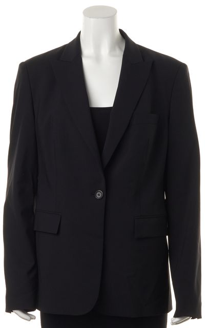 BOSS HUGO BOSS Black Wool Single Button Pocket Front Blazer