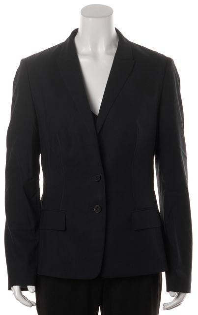 BOSS HUGO BOSS Navy Blue Wool Peak Lapel Two Button Blazer Jacket