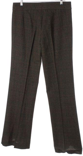 BOSS HUGO BOSS Brown Red Plaid Wool Pleated Trouser Dress Pants