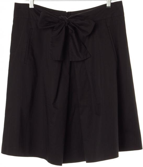 BOSS HUGO BOSS Black Pleated Bow Front Venory A-Line Skirt w Pockets