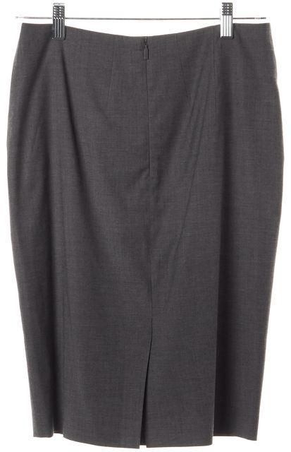 BOSS HUGO BOSS Gray Knee Length Pencil Skirt