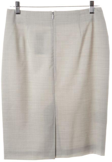 BOSS HUGO BOSS Gray Wool Knee-Length Vilina Straight Skirt