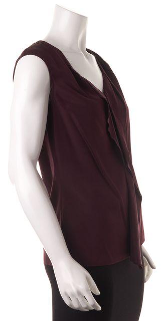 BOSS HUGO BOSS Purple Silk Sleeveless Blouse Top