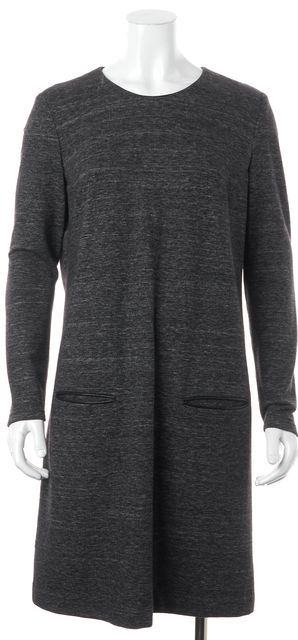 BOSS HUGO BOSS Charcoal Gray Relaxed Fit Two Pocket Shift Dress