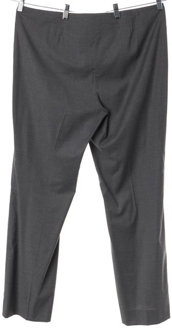 BOSS HUGO BOSS Gray Wool Wide Flared Leg Trousers Pants