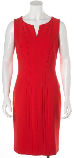 BOSS HUGO BOSS Red V Neckline Sleeveless Sheath Dress