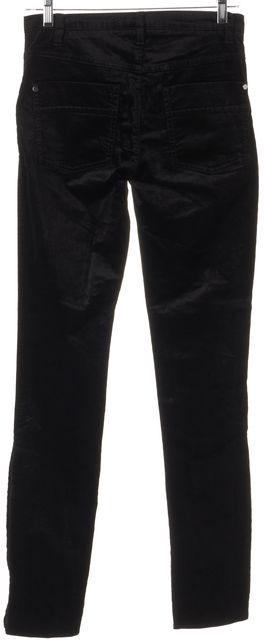 BOSS HUGO BOSS Black Mid-Rise Viscose Blend Velvet Trousers Pants