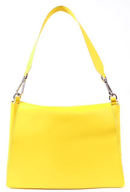 BOSS HUGO BOSS Yellow Genuine Leather White Trim Runaway Edition Shoulder Bag