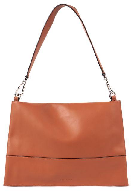 BOSS HUGO BOSS Cognac Leather Modern Day Convertible Clutch