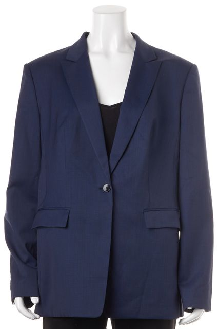 BOSS HUGO BOSS Navy Blue Herringbone Wool Juicyna Blazer