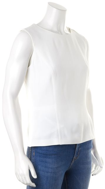 BOSS HUGO BOSS White Layered Back Sleeveless Blouse Top