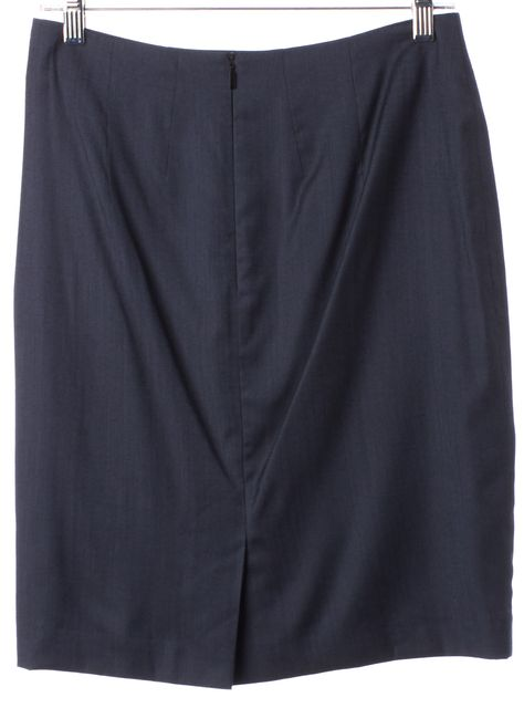 BOSS HUGO BOSS Dark Navy Above Knee Pencil Skirt