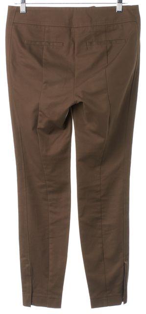 BOSS HUGO BOSS Brown Ankle Zip Trouser Dress Pants