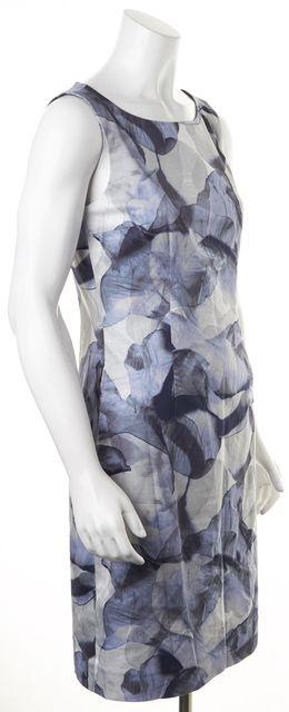 BOSS HUGO BOSS Blue Navy Gradient Floral Print Sleeveless Sheath Dress
