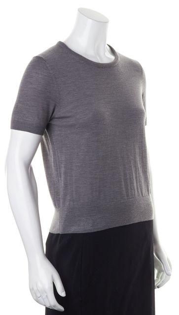 BOSS HUGO BOSS Gray Wool Short Sleeve Crewneck Fedora T-Shirt