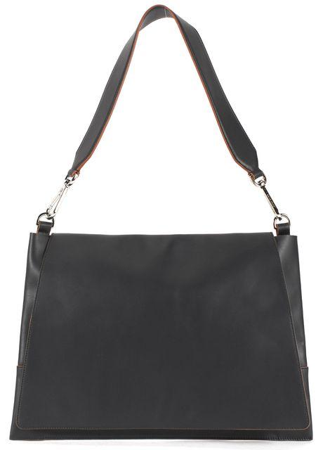 BOSS HUGO BOSS Runway Edition Black Leather Slim Shoulder Bag