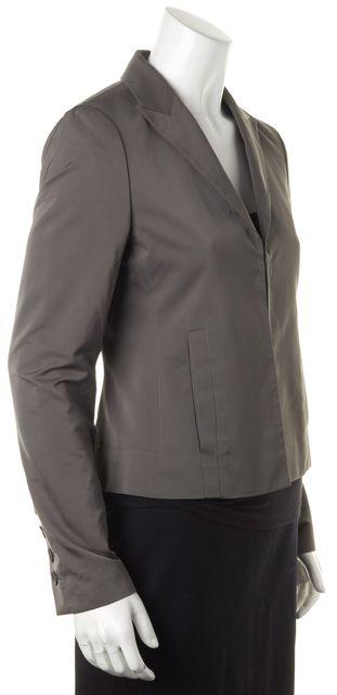 BOSS HUGO BOSS Medium Gray Hook Clasp Slit Pocket Career Blazer