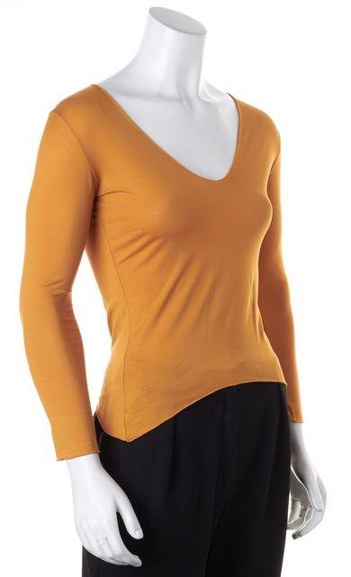 BOSS HUGO BOSS Goldenrod Yellow V-Neck Long Sleeve T-Shirt