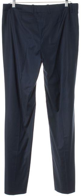 BOSS HUGO BOSS Navy Blue Wool Tulia Trouser Dress Pants