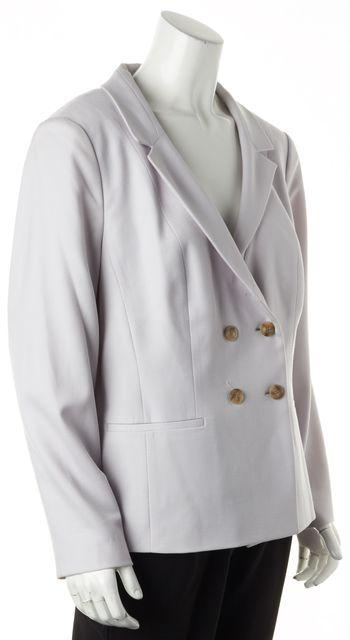 BOSS HUGO BOSS Gray Textured Wool Double Breasted Jolira Blazer