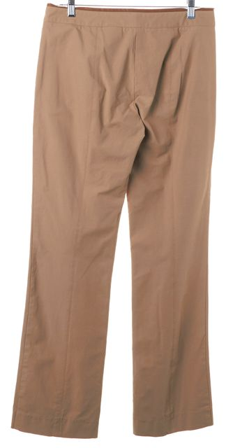 BOSS HUGO BOSS Beige Faux Leather Trim Niri Trouser Dress Pants