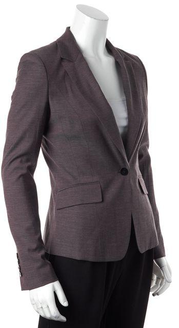 BOSS HUGO BOSS Purple Wool Single Button Blazer