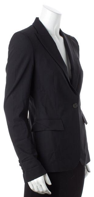 BOSS HUGO BOSS Black Wool Single Button Blazer