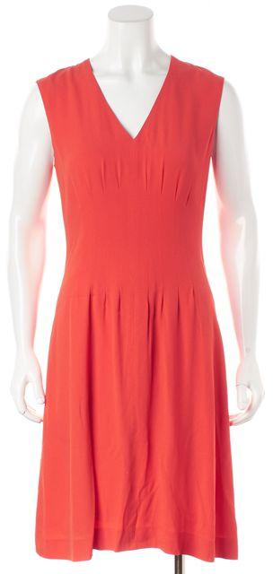 BOSS HUGO BOSS Orange Sleeveless Sheath Dress