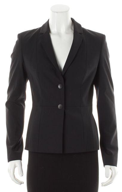 BOSS HUGO BOSS Black Wool Two-Button Blazer