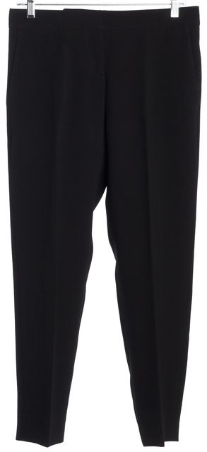 BOSS HUGO BOSS Black Textured Flat Front Cropped Dress Pants